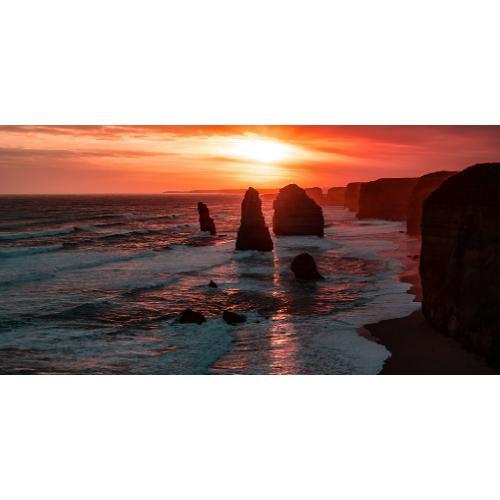 Infraobraz Západ slunce nad mořem 120x60cm (600W)