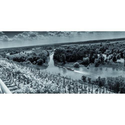Infraobraz Soutok Labe a Vltavy u Mělníka 120x60cm (600W)